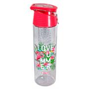 Garrafa com infusor love summer 700 ml