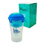 Copo Fitness com garfo 800 ml