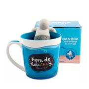 Caneca com infusor de chá relachá 350 ml