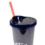 Copo com Canudo Glitter acreditar 650 ml
