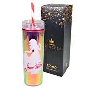 Copo canudo com tampa Snow White 450 ml