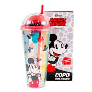Copo canudo mickey mouse 750 ml