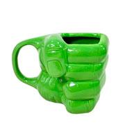 Caneca de porcelana 3D hulk 350 ml