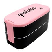 Lunch box com talher 02 andares gratidão 400/450 ml