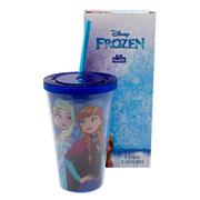 Copo Canudo frozen 500 ml