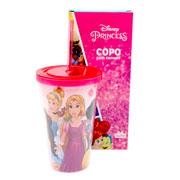 Copo Canudo princess 500 ml