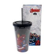 Copo Canudo avengers 500 ml
