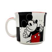 Caneca de cerâmica Mickey xadrez 350 ml
