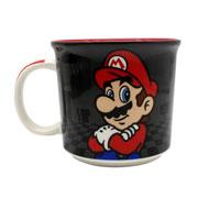 Caneca de cerâmica mario black 350 ml