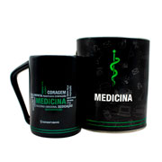 Caneca profissão Medicina em lata 300 ml