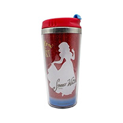 Copo para viagem com gliter Princesa Branca Neve 450 ml