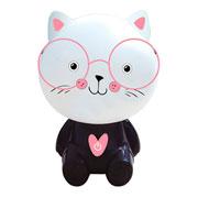 Luminária Meow Rosa 18 cm