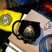 Caneca de porcelana 3D caldeirão Hogwarts 500 ml