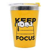 Copo para viagem Snoopy keep focus 300 ml