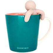 Caneca de cerâmica gratidão com infusor de chá 350ml