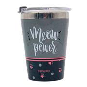 Copo para viagem Meow power 300 ml