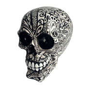 Caveira de resina Tribal tatoo