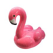 Cofre cerâmica Shy flamingo rosa 19 cm
