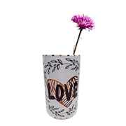Vaso em cerâmica branco love 22 cm