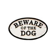 Placa de ferro Beware of the dog
