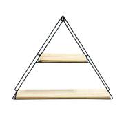 Prateleira Forms triangle preto 40x10x50 cm