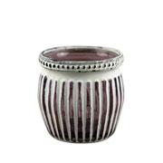 Castiçal de vidro Marrocan Listras roxo 7 cm
