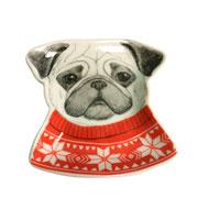 Porta bijoux cachorro trinket em cerâmica