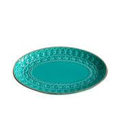 Porta bijoux em ceramica azul