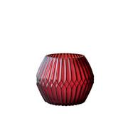 Castiçal de vidro Chinese Ballon Vermelho 10 cm