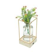 Luminária de vidro/metal Cobre 22 cm
