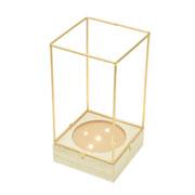 Luminária de vidro/metal Cobre 24 cm