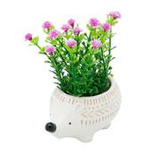 Mini cachepot de cerâmica Animals ouriço 09x05 cm