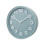Relógio de parede thick numbers cinza 30 cm