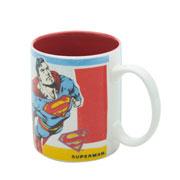 Caneca de porcelana superman flying 300 ml