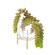 Vaso de vidro com suporte short straight 12 cm