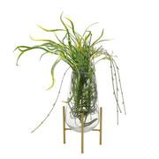 Vaso de vidro com suporte long cone 25 cm
