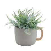 Vaso em concreto tea cup 16x13x11 cm