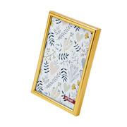 Porta retrato de plastico basic dourado 10x15 cm