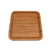 Bandeja de madeira round square 17 cm