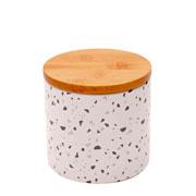 Potiche porcelana granilite branco 10x10 cm