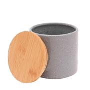 Potiche porcelana granilite cinza 10x10 cm