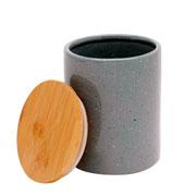 Potiche porcelana granilite cinza 10x13 cm