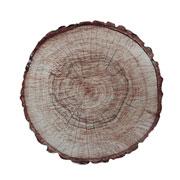 Suporte de madeira rustico tree marrom 25 cm