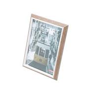 Porta retrato de madeira marrom 13x18 cm