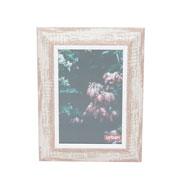 Porta retrato de madeira vintage marrom 10x15 cm