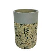 Cachepot concreto granilite tube stardust cinza 12x18 cm
