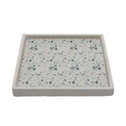 Bandeja de concreto granilite stardust cinza 25 cm