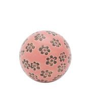 Enfeite bola em cerâmica small flower rosa 05 cm