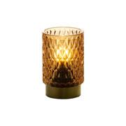 Luminária LED vidro Goldond Âmbar 8,5x13 cm