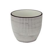Cachepot em cerâmica Ilusions Branco/preto 14x12 cm